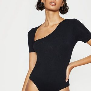 NWT ✨Black Asymmetrical Bodysuit